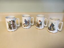 Vintage Norman Rockwell Mugs Cups Made In Japan 1985 Seafaring Men & Boys!