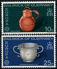 Guernsey 1976 SG#139-140 Europa, Milk Can, Christening Cup MNH Set #49899