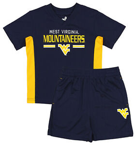 Outerstuff NCAA Toddlers West Virginia Mountaineers  Double Short Set