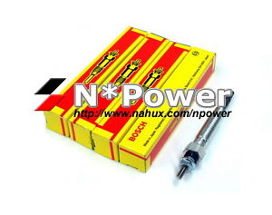 BOSCH GLOW PLUG SET 4 FOR HOLDEN RODEO KB UTE 1981-1985 2.2L C223