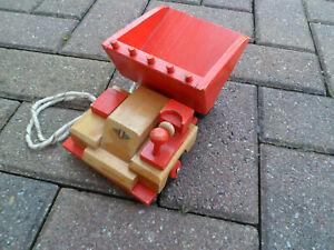 DDR Heko Holz Dumper Auto Original Holzspielzeug Steinach