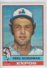 Autographed 1976 Topps Fred Scherman - Expos