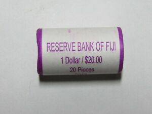 Mint Wrapped BU Roll of 20 Fiji 2012 1 Dollar Coins - Unopened
