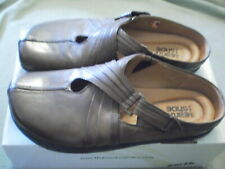 Earth Shoes Kalso Technology 3.7  Slides Mules Brown Leather Sz 9