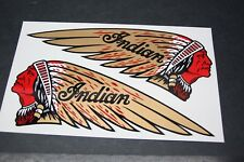 "NOS NEW repro USA made INDIAN TANK DECALS ""Red Face"" ** VINYL! (not water slide)"