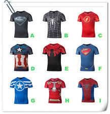 3D T-shirt printing fashion HD Spider Man Captain America Superman style
