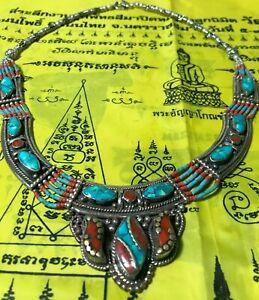 PENDANT THAI AMULET Tibetan Buddhism silver Red necklace TALISMAN BUDDHA LOVE