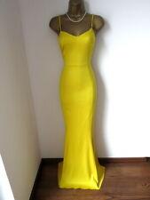 Lipsy Amarillo cola de pescado Maxi Vestido Talla 10