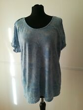 Ladies Size 16 Summer Light Blue Top