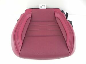 2018 LEXUS RC350 SEAT FRONT LOWER CUSHION RED PASSENGER SIDE OEM 618 #A74 A