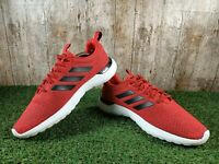Mens Adidas Cloudfoam Lite Red/Black Racer Trainers Shoes Size 7.5 UK