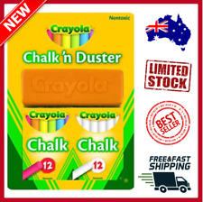 Crayola Chalk n Duster Set with 24 Chalk Sticks