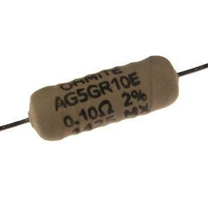 Ohmite AG5 0,1Ohm 5Watt 2% Widerstand non-magnetic Audio Gold 0,1R 5W 853834