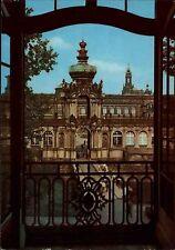 Dresden Sachsen DDR Postkarte color AK um 1968 Blick auf großes Haus vom Zwinger