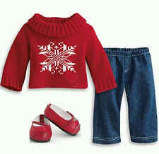 NEW American Girl Bitty Baby Twins Winter Wishes sweater Outfit+book RETIRED NIB