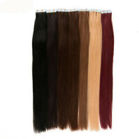 """PU Seamless Skin Tape in Remy Real Human Hair Extensions Straight 20PCS 16"""""""