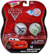 Disney Cars Cars 2 Gomu Siddeley & Sarge Gomu Erasers 4-Pack