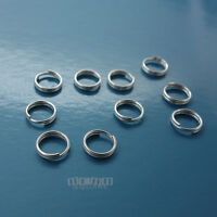 10PC Solid Sterling Silver 7mm 21 Gauge/ 0.7mm Split Jump Ring Connector #33117