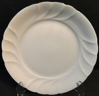 Mikasa Wedding Band Platinum Dinner Plate 10 5/8 L9706 White Swirl EXCELLENT