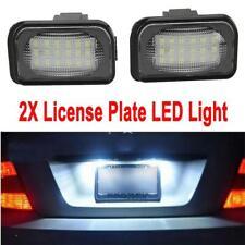2X White License Plate LED Lights Error Free For Mercedes Benz W203 4D C230 C240