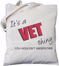 es ist ein kandidat thing-sie würden nicht verstehen-natur baumwolltasche tierarzt