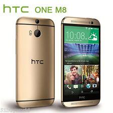 """HTC ONE M8 32GB 5"""" 4G LTE Android Smartphone Cellulare Sbloccato ORO WIFI 1080P"""