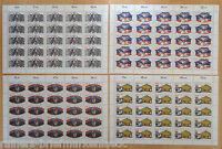 50 x Bund Nr. 1411 - 1414 postfrisch Bogen Satz BRD Michel 325 € Formnumer 2