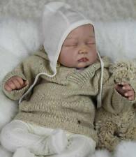 Lifelike Reborn Baby Kit Soft Vinyl Head 3/4 Arms Legs for 20''-22'' Reborn Doll
