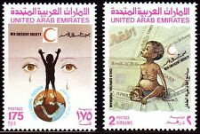 UAE 1990 ** mi.306/07 Croce Rossa Red Cross | Red Crescent Society