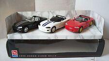 AMT ERTL 1996 Dodge Viper RT/10 8382 Convertible Black Red White 3 car box set