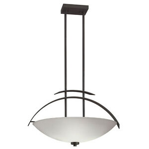 Modern Ceiling Hanging Inverted Pendant Lighting Fixture BLACK Finish