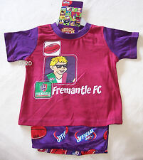 Fremantle Dockers AFL Boys Cotton Satin Pyjama Set Size 0 New