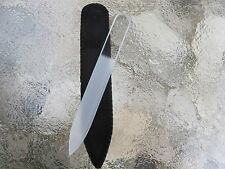 "Crystal Glass Nail File Mont Bleu Czech Republic ~Clear~ 3 1/2"" Purse Size New"