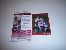 GARY CARTER MONTREAL EXPOS,METS,HOF JSA/COA SIGNED CARD