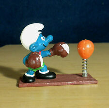 Smurfs Boxer Super Smurf Punching Bag Vintage Toy Lot Figure Boxing Rocky 40508