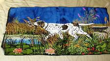 """Vintage Tapestry/Wall Hanging Hunting Pointer Bird Dog made in Italy 20"""" X 39"""""""