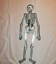 Halloween decoration scary Skeleton jointed cardboard die-cut 23 inches Beistle