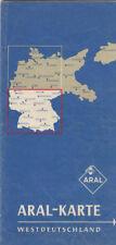 ANTICO ARAL CARTINA GEOGRAFICA - Mappa Germania (aral192)