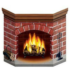 Party Supplies Decorations Christmas Winter Fireplace Stand up Cutout Photo Prop