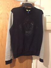 Versace Jeans Fleece Lined Black & Grey Sweatshirt Jumper Sizes  XXXL