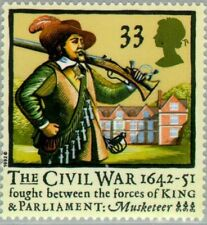 GREAT BRITAIN -1992- MUSKETEER - 350th Anniv of the Civil War - MNH Stamp--#1456