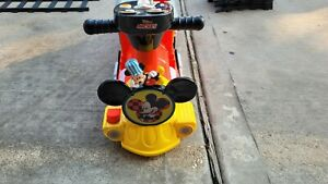 Disney Mickey Mouse 6-Volt Powered Train with Tracks and Caboose