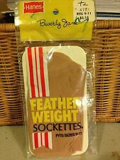 hanes feather weight sockettes size 9-11 pantyhose peds