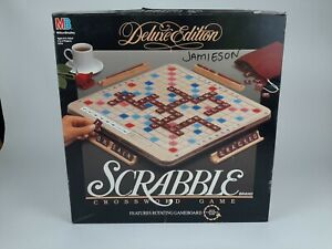 Scrabble Deluxe Edition Rotating Turntable -100% Complete - Fast Free Shipping