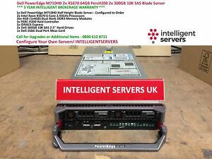 Dell PowerEdge M710HD 2x X5670 6 Core 64GB H200 2x 300GB 10K SAS Blade Server