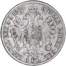 AUSTRIA coin 1 Florin 1884