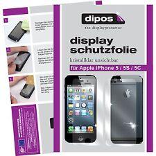5x Apple IPhone 5 Schutzfolie klar VORNE + HINTEN Displayschutz Folie unsichtbar