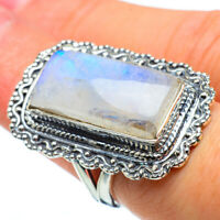 Large Rainbow Moonstone 925 Sterling Silver Ring Size 7 Ana Co Jewelry R33303F