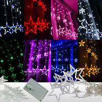 2M Romantic Star LED Curtain Lights Xmas Christmas Wedding Window Fairy String
