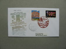 JAPAN, cover FDC to Germany 1990, loacal issue Kagoshima, vulcano fireworks